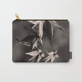 Japanese Maple Leaves in Sepia Carry-All Pouch