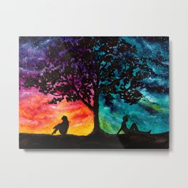 Two Different Worlds Metal Print