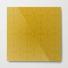 Africa Diamond Yellow Ocre Metal Print