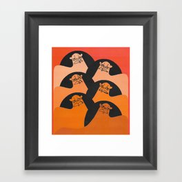 If you're not outraged, you're not paying attention. Framed Art Print