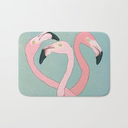 Flamingo Flamingo Flamingo Bath Mat