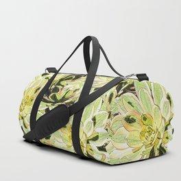 Yellow Desert Echeveria Pattern Duffle Bag