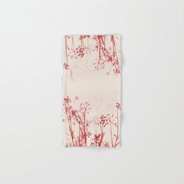 Elegant Coral Pink Botanical Floral Abstract. Hand & Bath Towel