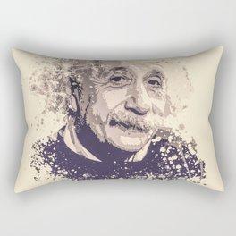 Albert Einstein splatter painting Rectangular Pillow