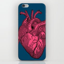 hot pink heart iPhone Skin