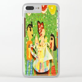 The cup of Rosalia | Full of fairy tales | Painting by Elisavet Clear iPhone Case