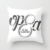 scandal Throw Pillows featuring Scandal - Olivia Pope & Associates by leftyprints