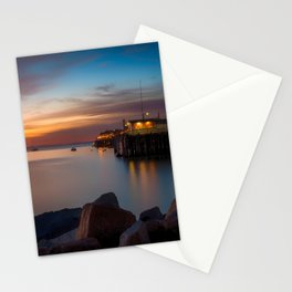 Here she comes again the sun rising at Port San Luis vila Beach Stationery Cards