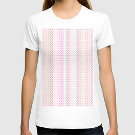 Knitted pattern in pastel colours.2 T-shirt
