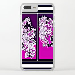 Freedom found in my thoughts Clear iPhone Case