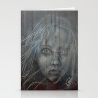 les miserables Stationery Cards featuring Cossette ~Les Miserables by prestone85
