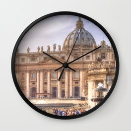 The Papal Basilica of the Saint Peter in the Vatican, Rome Wall Clock