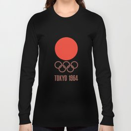Vintage 1964 Tokyo Olympics Decal Cycling t-shirts Long Sleeve T-shirt