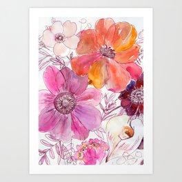 loose flowers N.o 1 Art Print