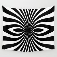 tribal Wall Tapestries featuring Tribal  by Andy Readman @ AR2