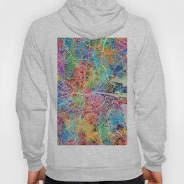 Dublin Ireland City Map Hoody