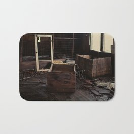 Abandoned crates Bath Mat