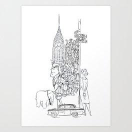 Newyorkers 2 Art Print