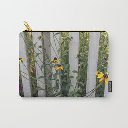 Fenced In Black Eyed Susans Carry-All Pouch