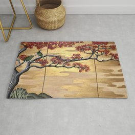 Japanese Fall Leaves Rug