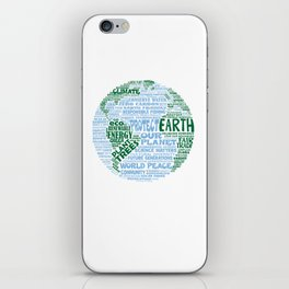Protect Earth Word Bubble iPhone Skin