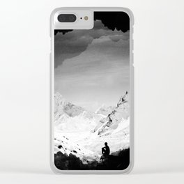 Snowy Isolation Clear iPhone Case