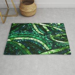 Green Art Deco Sequins Rug