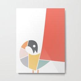 Minimal Peacock Metal Print
