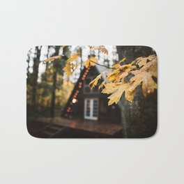 A-Frame Cabin in the Woods Bath Mat