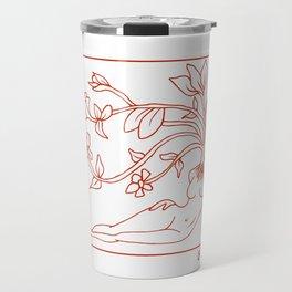 At Dawn We Grow, Red Travel Mug