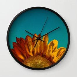 A Sunflower Wall Clock