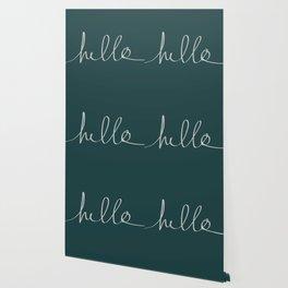 Hello x Dark Turquoise Wallpaper