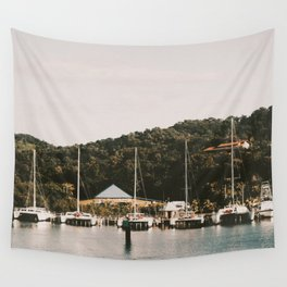 Boats of Roatan Wall Tapestry