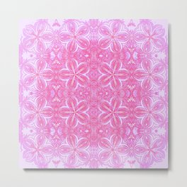 Fuchsia Pink Red Delicate Flowers Metal Print