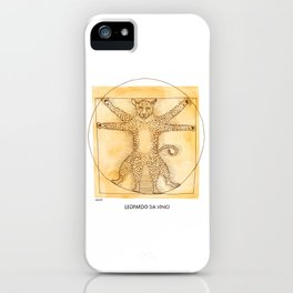 Leopardo da Vinci iPhone Case