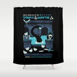 Templo de los Muertos Shower Curtain