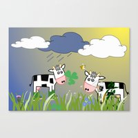 cows Canvas Prints featuring Cows by LoRo  Art & Pictures