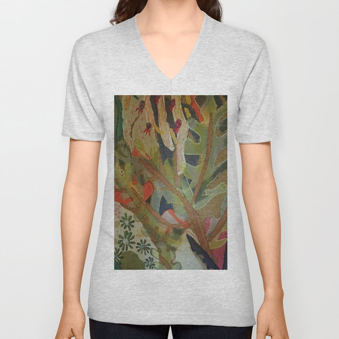 Exotic abstract patterns of nature Unisex V-Neck