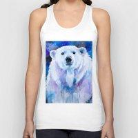 polar bear Tank Tops featuring Polar bear  by Slaveika Aladjova