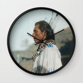 Crow's Heart - Mandan - American Indian Wall Clock