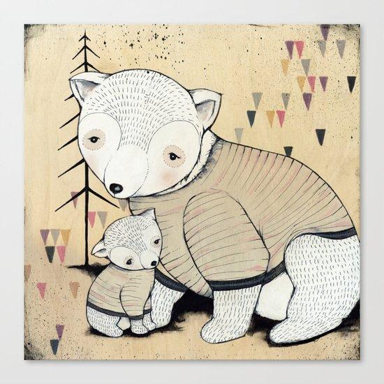 Mama Bear, Baby Bear Canvas Print