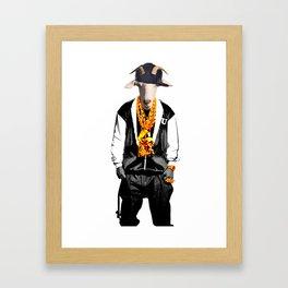 GOAT FACE Killah Framed Art Print