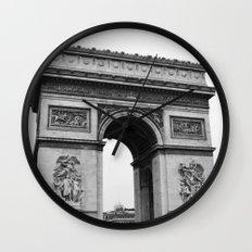 Arc de Triomphe Noir Wall Clock