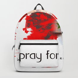 Pray for syria Backpack