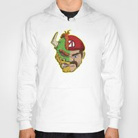 mario kart Hoodies featuring Mario Chimera by The Cracked Dispensary