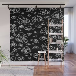 A Squiggle Sky Inverse Wall Mural