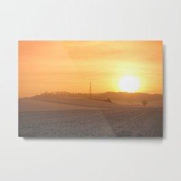Winter Sunset I Metal Print