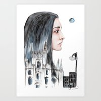 milan Art Prints featuring Milan by Giulia Colombo