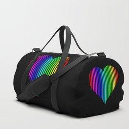 Techno Love Heart Duffle Bag