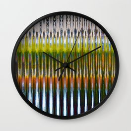 Colorful Reverberations Wall Clock